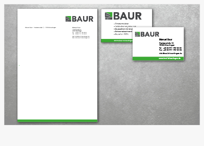 Corporate Design für Firma Baur