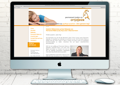 Linergistin Permanent Make up Webseite