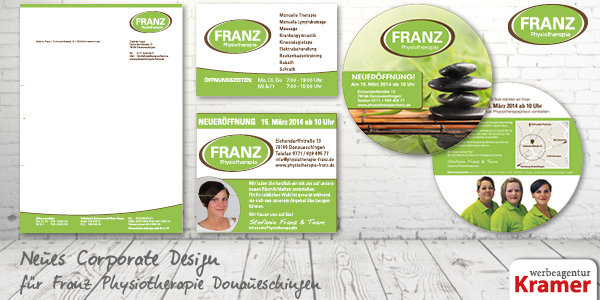Corporate Design Franz Physiotherapie Donaueschingen