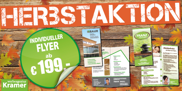 Flyer Folder Aktion Angebot